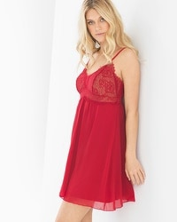 Limited Edition Breathtaking Sleep Chemise Ruby/Soft Tan
