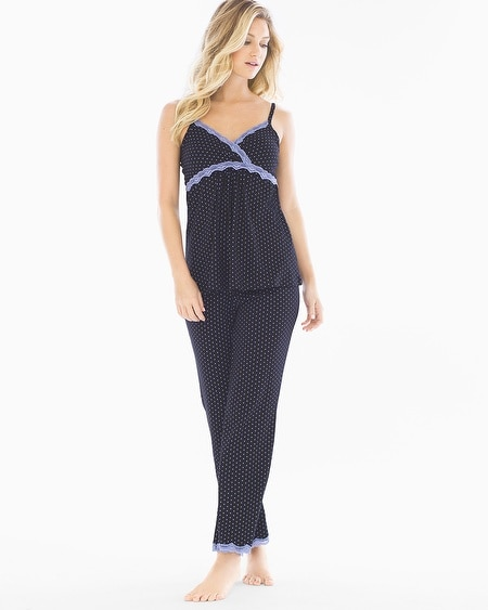 Dottie Cotton Nursing Pajama Set Black Dot
