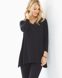 Live. Lounge. Wear. Soft Jersey Flyaway Lace Tunic