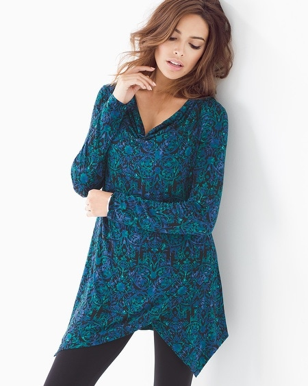 Live. Lounge. Wear. Soft Jeresy Layered Hem Tunic
