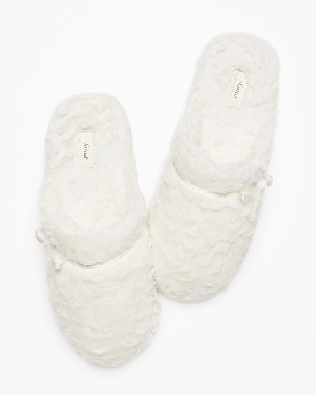 Luxe Marble Slippers Ivory