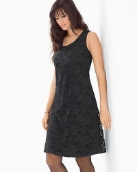 Lace Overlay Sleeveless Short Dress