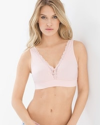 Embraceable Wireless Plunge Lace Trim Bra