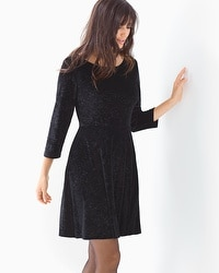 Embossed Velvet Short Dress