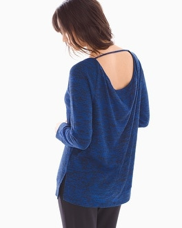 Melange Draped Back Top