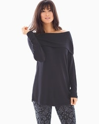 Divine Terry Off the Shoulder Tunic