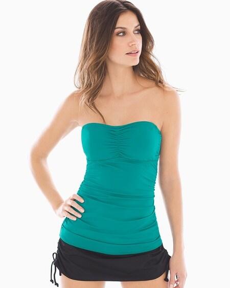 Soma Womens Bandeau Tankini (Green)