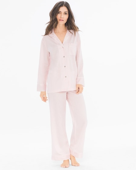 Cotton Sateen Notch Collar Pajama Set