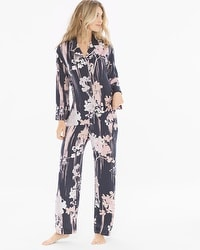 Natori Layla Notch Collar Pajama Set