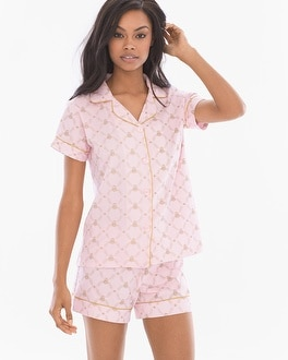 BedHead Cotton Blend Knit Pajama Short Set