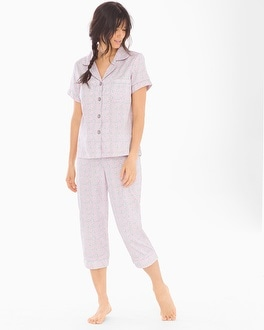 BedHead Cotton Sateen Cropped Pants Pajama Set