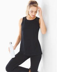 Soma Sport Cotton Blend Mesh Detail Tank Top