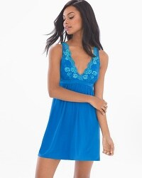 Flirtation Sleep Chemise Capri Blue