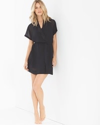 Flirtation Short Sheer Wrap Robe