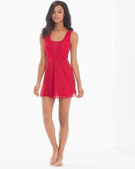 Flirtation Plunging Babydoll Ruby