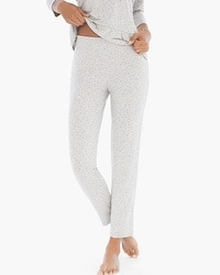 Cool Nights Ankle Pajama Pants Festivity Heather Frost