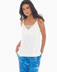 Cool Nights Pajama Cami With Lace Ivory