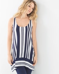 Soft Jersey Mixed Stripe Tunic