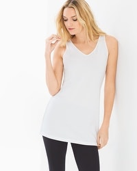 Pima Cotton Reversible Neckline Tunic Tank