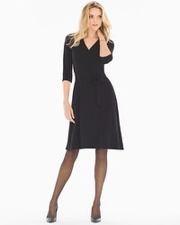 Leota Perfect Wrap 3/4 Sleeve Short Dress