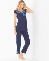 Oh My Gorgeous Tunic Pajama Set Navy