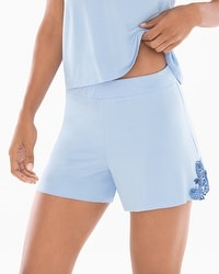 Riviera Scroll Pajama Shorts Serenity