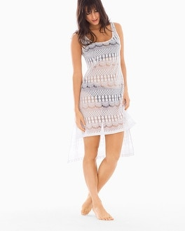 Profile by Gottex Crochet Tunic Swim Cover Up
