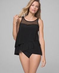 Miraclesuit Illusionists Mirage Layered Tankini Swim Top