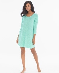 Cool Nights Relaxed Sleepshirt Stay in Bed Pool Green