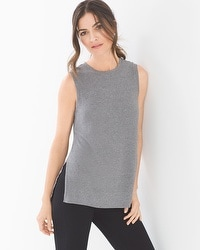 Midnight by Carole Hochman Lounge Ribbed Tank