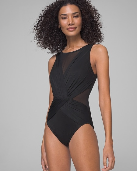 dec2fdec31565 Illusionists It s a Cinch One Piece Swimsuit - Soma