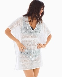 Tommy Bahama Crochet Tunic Swim Cover Up