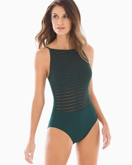 Amoressa by Miraclesuit High Neck Maillot Funny Girl One Piece Swimsuit