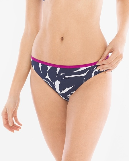 Graphic Leaf Reversible Hipster Swim Bottom