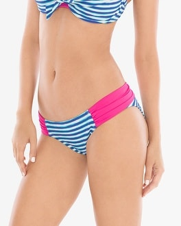 Profile Blush by Gottex Castaway Shirred Side Tab Swim Bottom