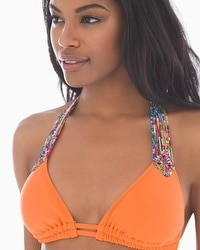 Profile Blush by Gottex Candy Apple Halter Swim Bikini Top