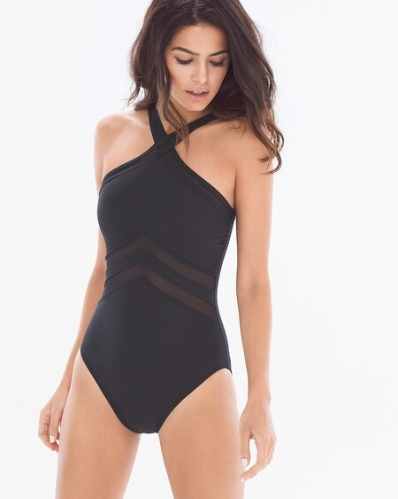 Net Work Point of View One Piece Swimsuit