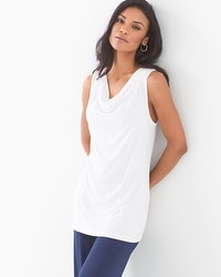 Soft Jersey Sleeveless Cowl Neck Top