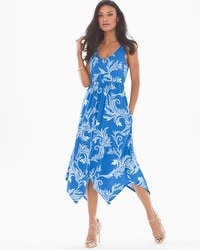Scarf Hem Midi Dress