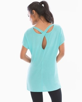 Athleisure Short Sleeve Strappy Tunic
