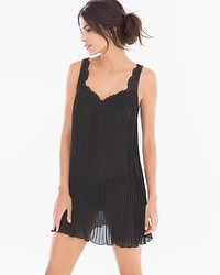 Pleated Chiffon Sheer Babydoll