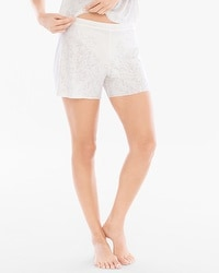 Scroll Burnout Print Pajama Shorts