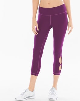 Athleisure Cotton Blend Yoga Cutout Hem Leggings