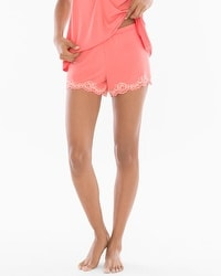 Delicate Floral Lace Cool Nights Pajama Shorts