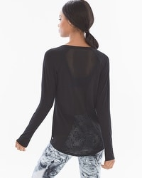 Soma Sport Mesh Back Layering Long Sleeve Tee
