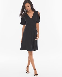 Soft Jersey Open Shoulder Short Dress