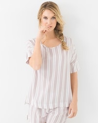 Hanro Lara Short Sleeve Pajama Top