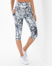 Soma Sport Knee Length Leggings Marble Dreams Cool Gray