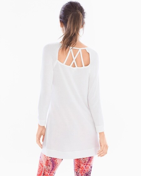 French Terry Cross Back Long Sleeve Tunic