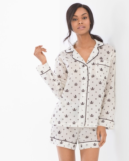 Bedhead Cotton Flocked Shorty Pajama Set